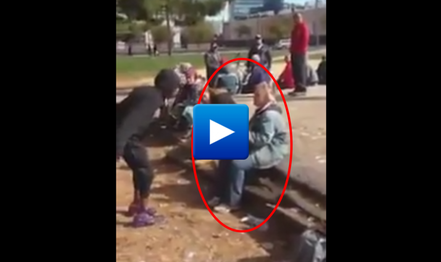 Shocking Video! Somali immigrant brutally attack an elderly woman