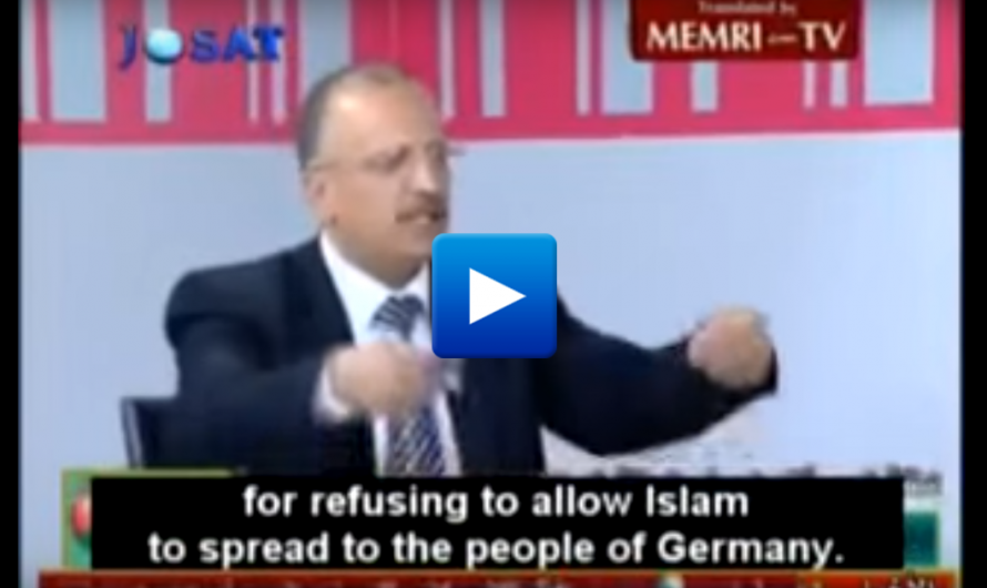 "Top Jordan Muslim cleric ""We must declare war on Germany to force them to pay taxes to Muslims"""