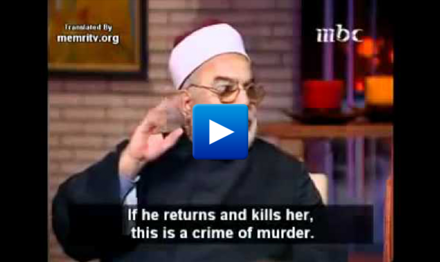 "Muslim cleric ""Muslim woman can not kill her cheating husband, maybe she's his second wife"""