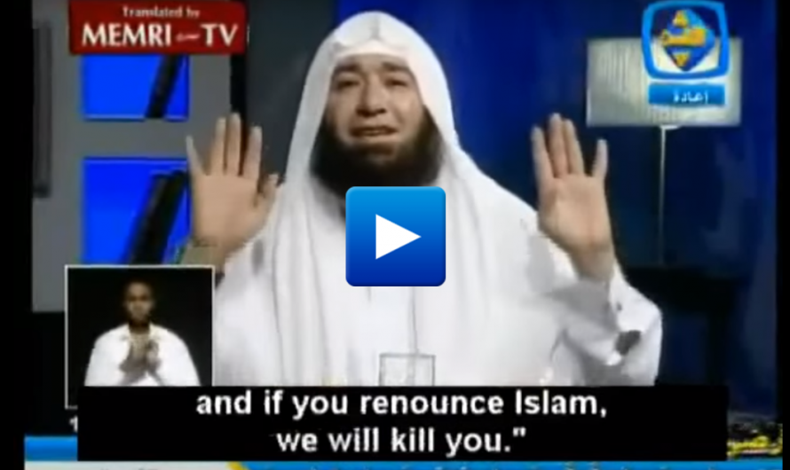 Watch: Muslim cleric explains how to to deceive people to convert to Islam and then kill them