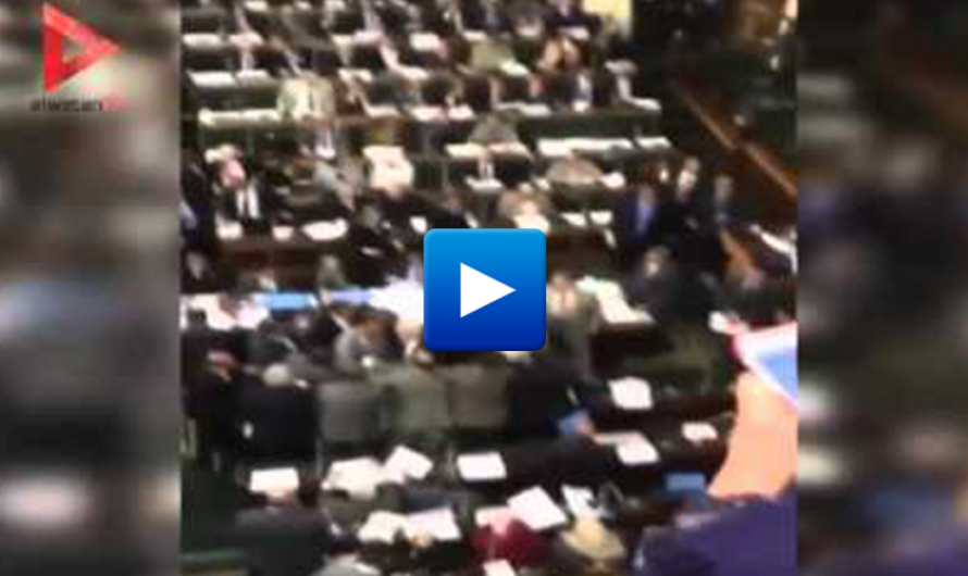 Watch: Shoe thrown at an Egyptian member of parliament for recognizing Israel