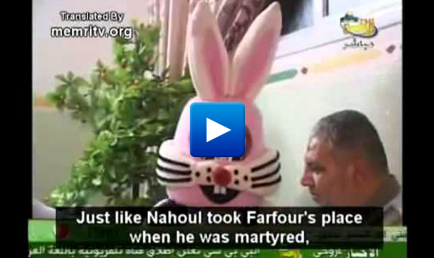 Shocking Video! Palestinians Children's TV Show With A Jew-Eating Rabbit