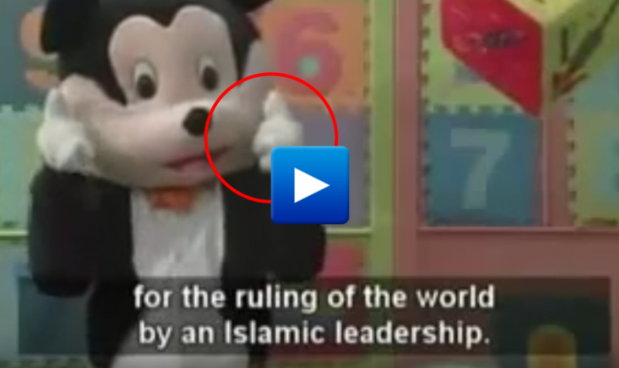 "Watch: Palestinian Mickey Mouse teaches children to commit suicide bomber ""to eliminate Jews"""