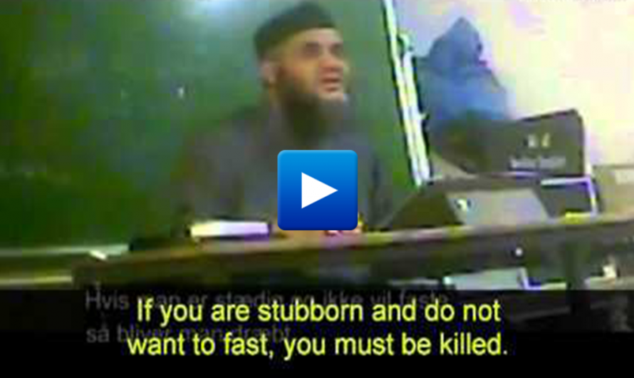 "Danish Imam on hidden teaches Muslim immigrants ""stoning of women and murder of apostates"""