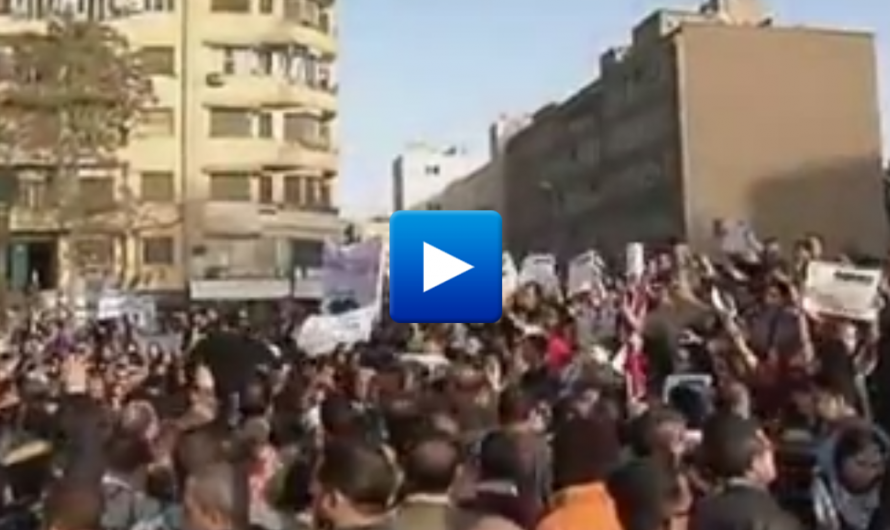 """Watch: Thousands of Muslim men Protest against women """"Go Home And Stay Home"""""""