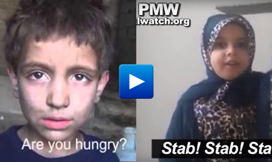 Watch: Syrian children starving to death while Palestinian children learn to stab Jews