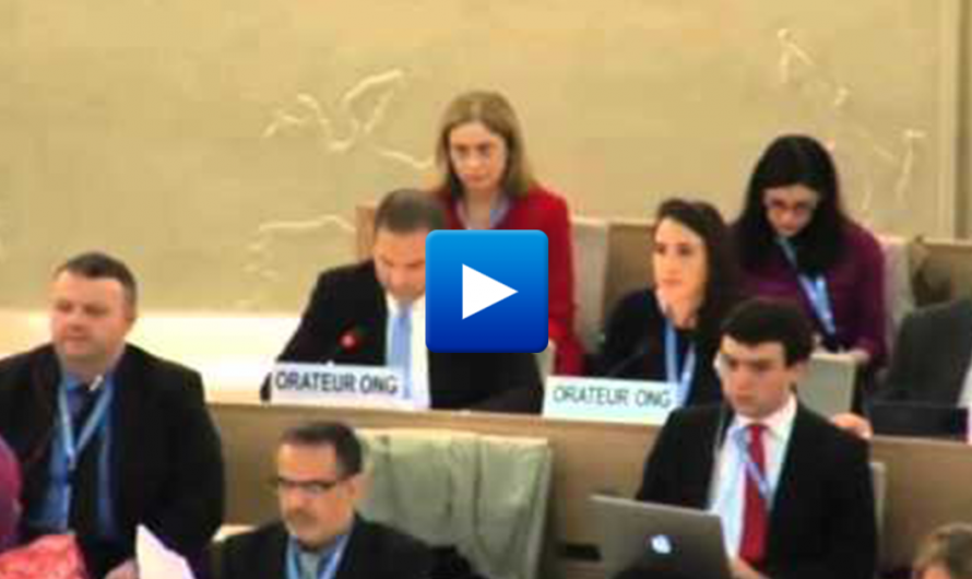Watch: historic speech that shocks the Human Rights Council of the UN