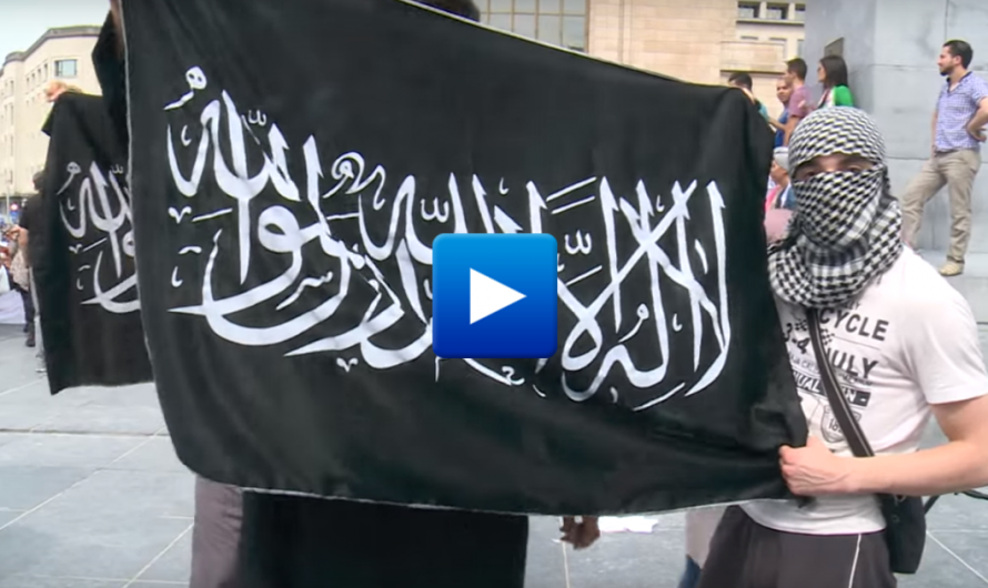 Watch: Thousands of Muslims and immigrants rally with Islamic State flags in Brussels
