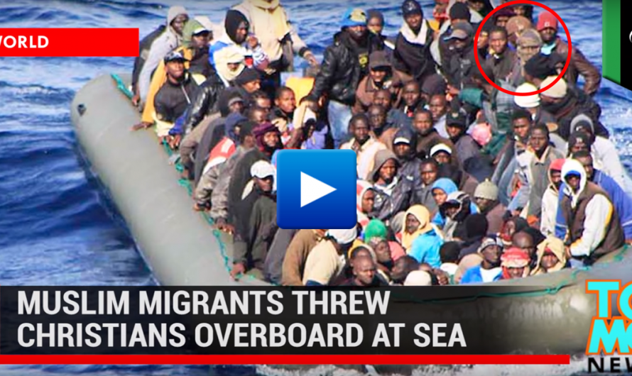 Watch: Muslim immigrants throw all the Christians into the sea on their way to Italy