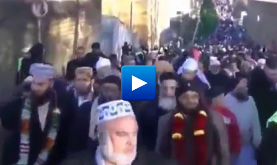 5000 Muslim Migrants march through Nelson, England in Celebration of Prophet Muhammad's Birthday
