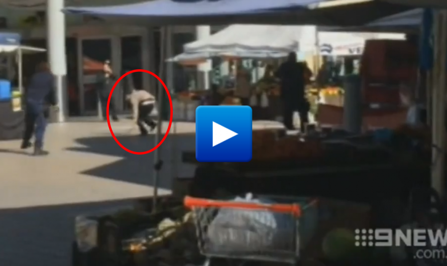 Breaking News! police shoot terrorist armed with knife at Westfield Hornsby Sydney Australia