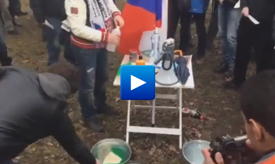 """Czech Republic: Angry locals burn Qur'ans outside the mosque to protest against the """"Islamization"""" of their town"""