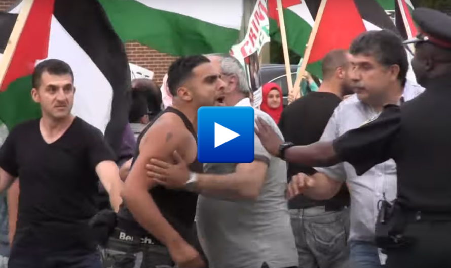 Canada: Muslim refugees from Pakistan Afghanistan and Morocco attack Jews and Christians during a pro-Palestinian demonstration