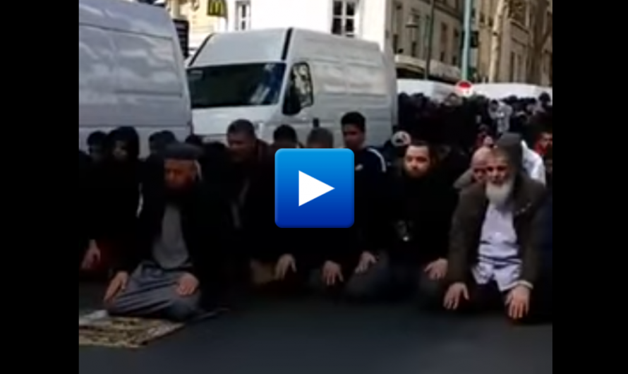 "Watch: French police closed radical mosque – Muslim refugees blocked traffic, shouting ""Allahu Akbar"" at cars as a revenge"