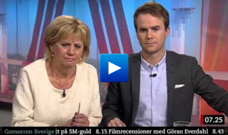 Watch: A Muslim immigrant in Sweden bursts into live news report
