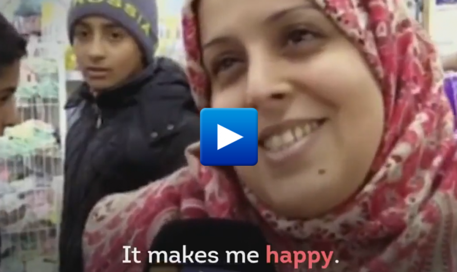"Muslim Woman is Happy her husband beats her ""A man who does not beat his wife is not a man"""