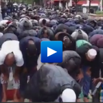 Watch: Muslims praying in the middle of a road in Paris to protest the closures of Mosques with ties to terrorist organizations