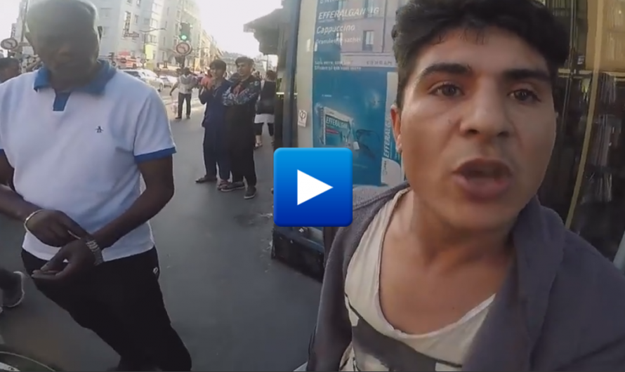 Watch: Migrant Threatens to Kill a Motorcyclist in France