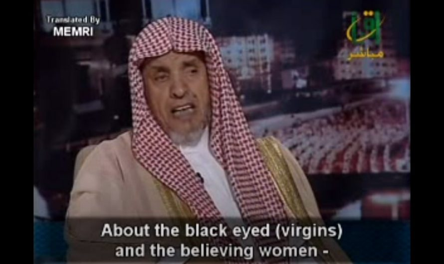 Saudi Sheik on TV explains why women shouldn't be jealous, their husbands getting 72 virgins in heaven