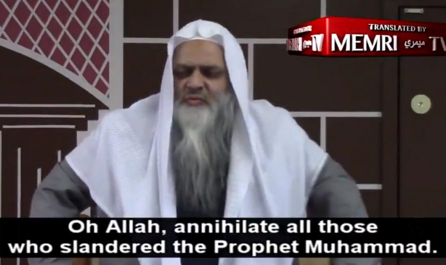 Canadian imam calls for death for those who disrespect Islam and the Prophet Muhammad