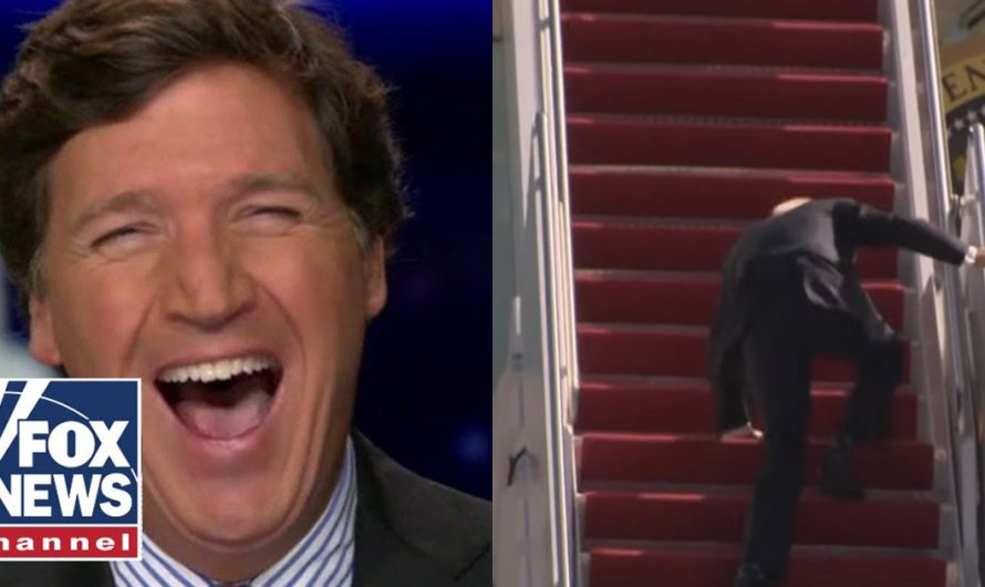 Tucker questions Biden's physical health after he fell up the stairs three separate times