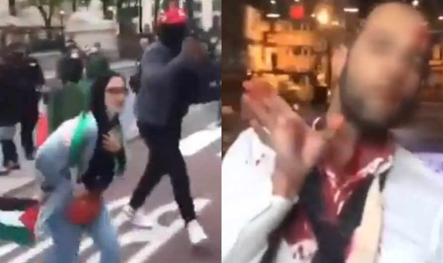 Watch: Pro-Palestinian Muslims try to murder a Jew in NYC to protest against Israel's right to defend itself against terrorist organizations in Gaza