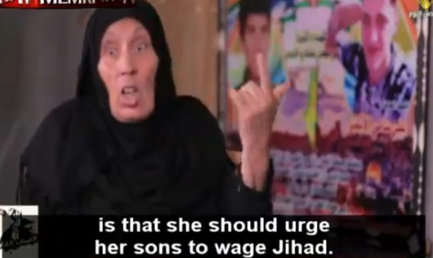 Proud Palestinian celebrates her son's death as a suicide bomber